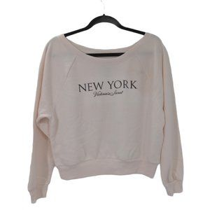 Victorias Secret New York Sweatshirt XS Pale Pink